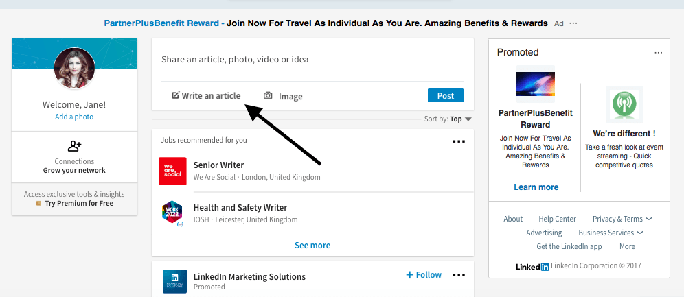 how to add interests to linkedin profile 2017